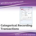 Categorical Recording Transactions