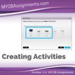 Creating Activities