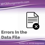Errors In the Data File