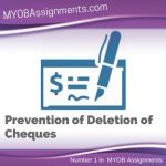 Prevention of Deletion of Cheques