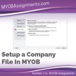 Setup a Company File In MYOB